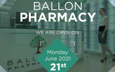 Ballon Pharmacy Opening 21st June